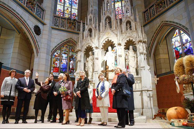 La reine Silvia et le roi Carl XVI Gustaf de Suède à Wittenberg cité de Luther, le 8 octobre 2016