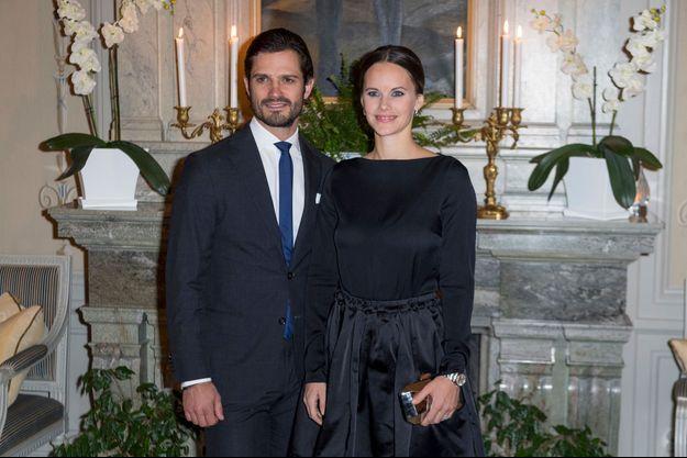 La princesse Sofia et le prince Carl Philip de Suède à Karlstad, le 21 octobre 2016