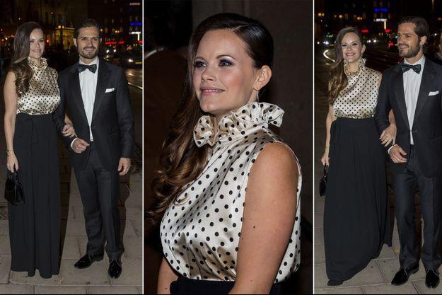La princesse Sofia, née Hellqvist, et le prince Carl Philip de Suède à Stockholm, le 20 octobre 2017