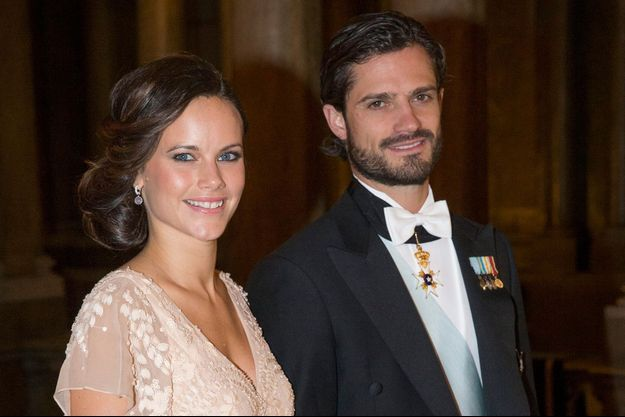 Sofia Hellqvist et le prince Carl Philip à Stockholm, le 12 décembre 2014