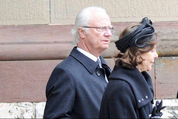 Le roi Carl XVI Gustaf et la reine Silvia de Suède à Sigmaringen, le 12 mars 2016