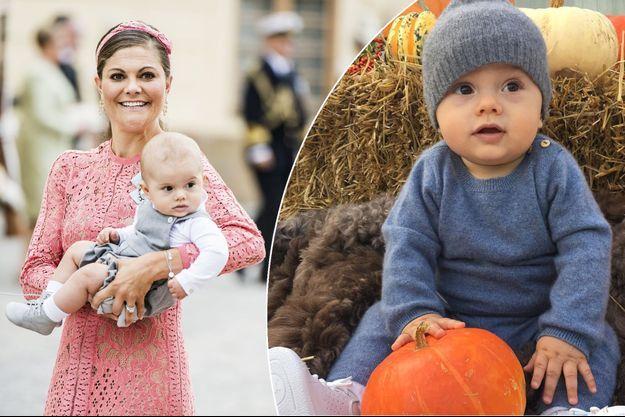 Le prince Oscar de Suède, fils de la princesse Victoria, les 9 et 29 septembre 2016