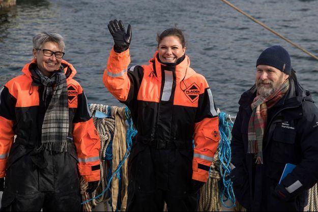 La princesse Victoria de Suède sur la mer à Sotenäs, le 7 mars 2018