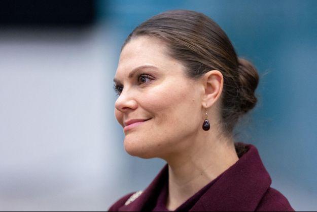 La princesse héritière Victoria de Suède, le 26 mars 2020
