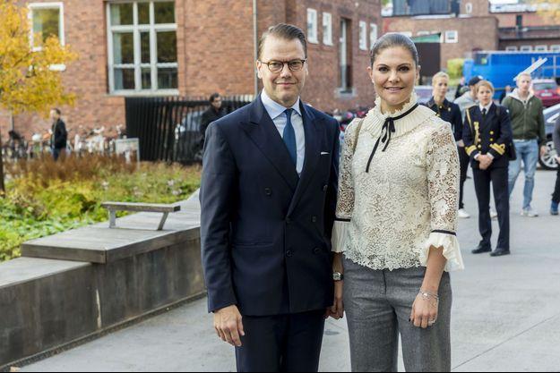La princesse Victoria de Suède et le prince consort Danial à Solna, le 20 octobre 2017