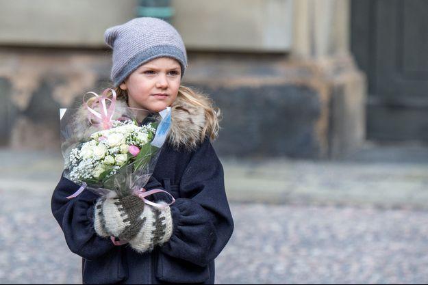La princesse Estelle à Stockholm, le 12 mars 2017