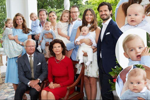 Photo des voeux de la famille royale de Suède, diffusée le 1er janvier 2017