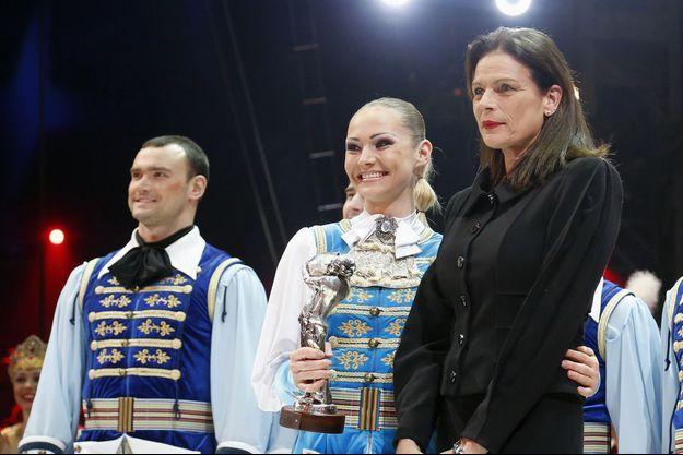 La princesse Stéphanie de Monaco, au Festival du Cirque de Monte-Carlo mardi soir.