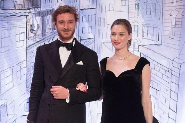 Pierre Casiraghi et sa femme Beatrice Borromeo au bal de la Rose à Monaco, le 25 mars 2018