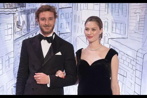 Beatrice Borromeo et Pierre Casiraghi lors du bal de la rose 2018.