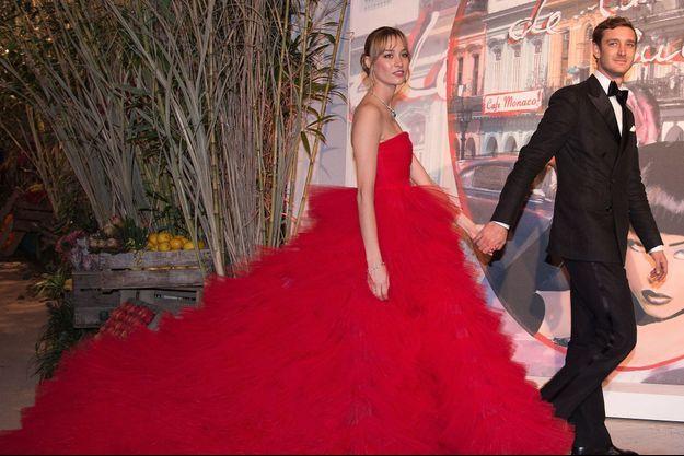 Beatrice Borromeo et son époux Pierre Casiraghi au bal de la Rose à Monaco, le 19 mars 2016