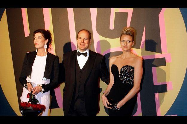 Caroline, Albert II de Monaco et Charlene.