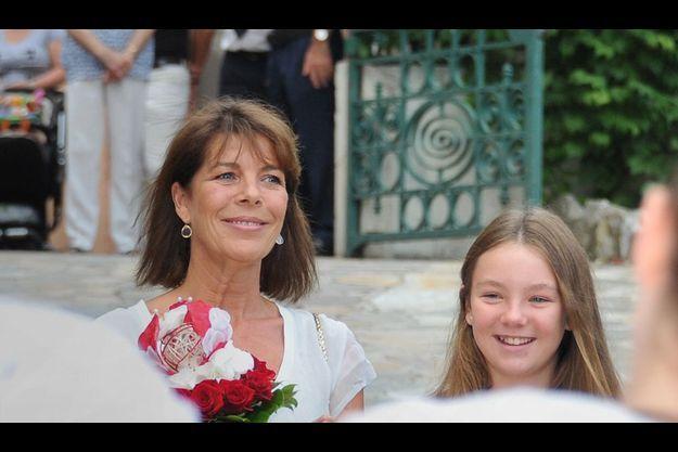 La princesse avec sa fille Alexandra au pique-nique de Monaco, le 10 septembre.