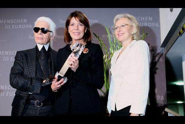 Karl Lagerfeld, Caroline, Angelika Diekmann (initiatrice du mouvement Menschen in Europa)