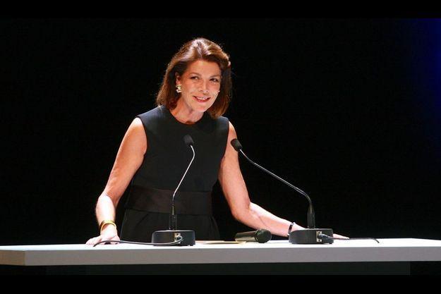 Caroline de Hanovre, Présidente de la Fondation Prince Pierre de Monaco, lors de la cérémonie de remise des prix.