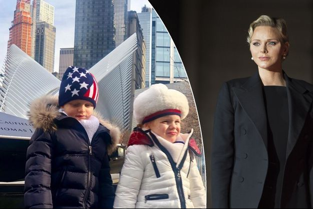 Le prince Jacques et la princesse Gabriella de Monaco à New York, en janvier 2019. A droite: la princesse Charlène, le 10 novembre 2018