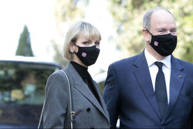 Charlène et Albert II de Monaco le 7 novembre 2020.