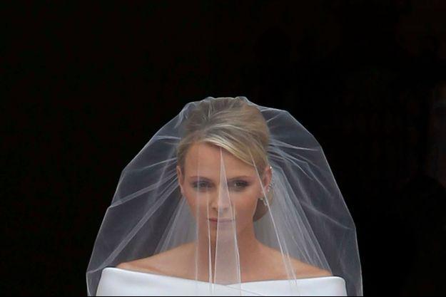 Charlène Wittstock le jour de son mariage.