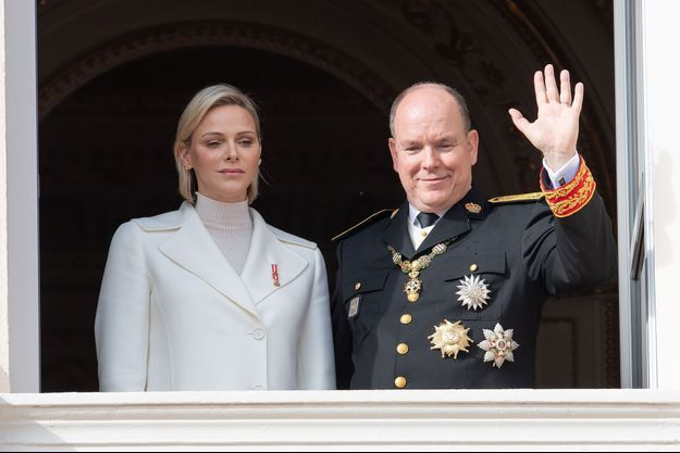 Charlène et Albert II de Monaco à Monaco en novembre 2019
