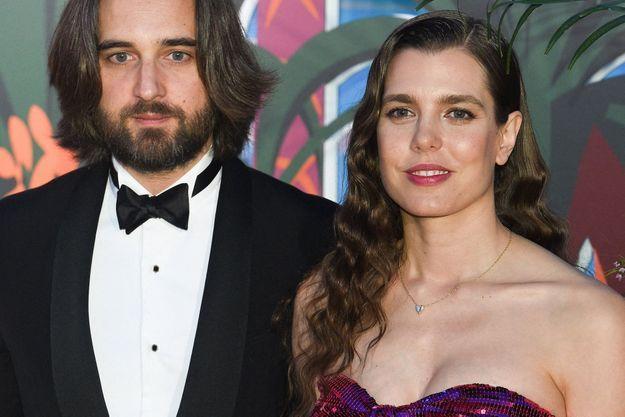 Charlotte Casiraghi et Dimitri Rassam au bal de la Rose, le 30 mars 2019.