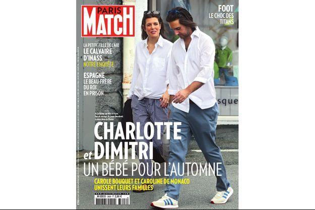 Dimitri Rassam avec Charlotte Casiraghi, les fiancés à La Trinité-sur-Mer, le 9 juin lors du mariage de Louis Casiraghi.