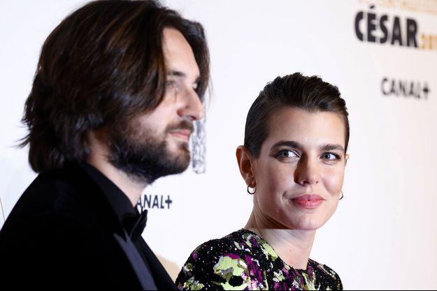 Charlotte de Monaco et son compagnon Dimitri Rassam aux César en mars dernier.