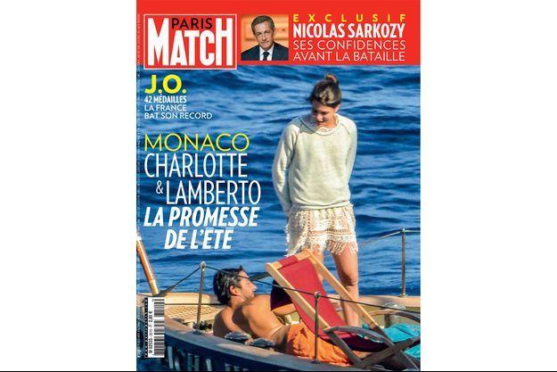 Charlotte Casiraghi et Lamberto en une de Paris Match n°3510