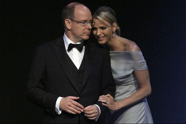 Albert et Charlène, en 2011.