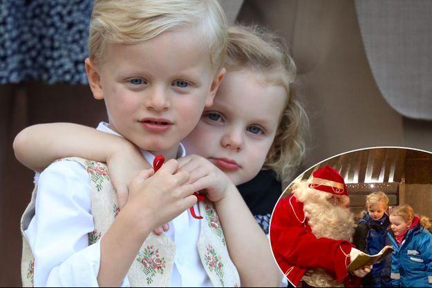 La princesse Gabriella et le prince Jacques de Monaco, le 31 août 2018 - En vignette: avec le Père Noël en Laponie