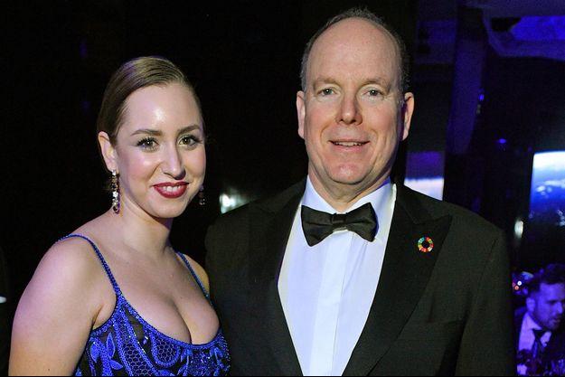 Jazmin Grace Grimaldi et le prince Albert de Monaco lors d'un gala à Los Angeles en février 2020