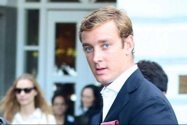 Pierre Casiraghi arrive au Brésil le 9 juillet 2014.