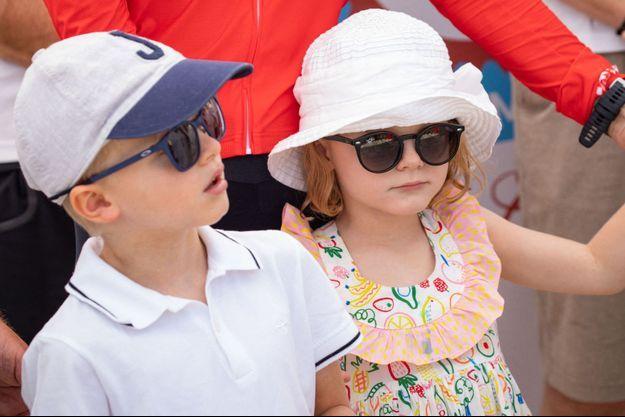 Le prince Jacques et la princesse Gabriella de Monaco à Calvi en Corse, le 12 septembre 2019