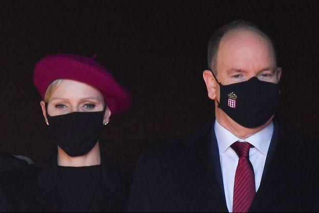 La princesse Charlène et le prince Albert II de Monaco, le 27 janvier 2021