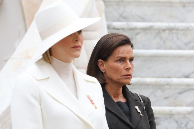Les princesses Charlène et Stéphanie de Monaco, le 19 novembre 2019