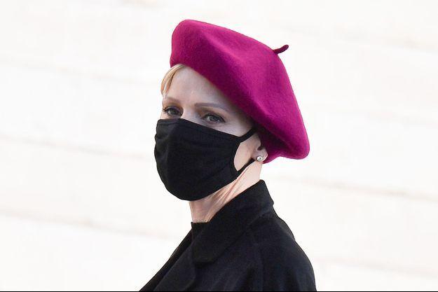 La princesse Charlène de Monaco, le 27 janvier 2021