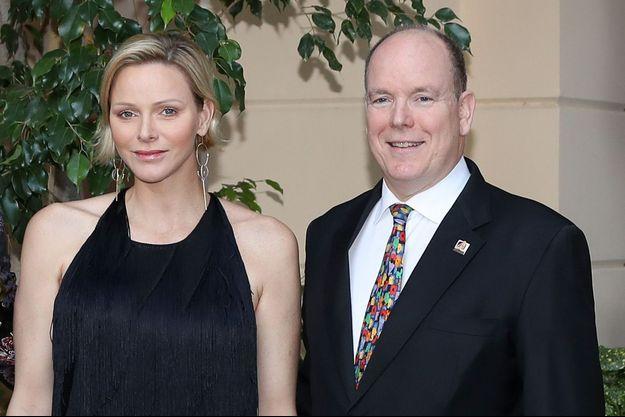 La princesse Charlène et le prince Albert II de Monaco à Monaco le 16 juin 2019