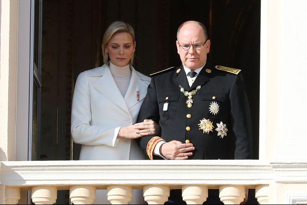 La princesse Charlène et le prince Albert II de Monaco, le 19 novembre 2019