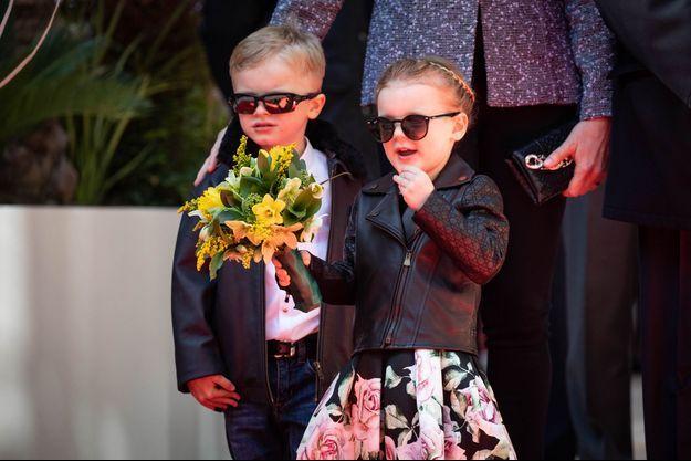 Le prince Jacques et la princesse Gabriella de Monaco, le 22 février 2019