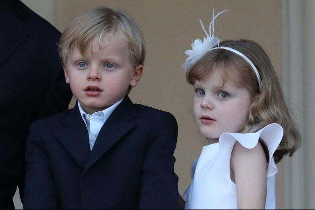 Le prince Jacques et la princesse Gabriella de Monaco, le 23 juin 2020