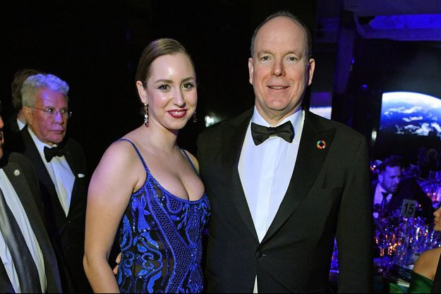 Le prince Albert II de Monaco avec sa fille Jazmin Grace Grimaldi lors du 2020 Hollywood For The Global Ocean Gala à Beverly Hills, le 6 février 2020