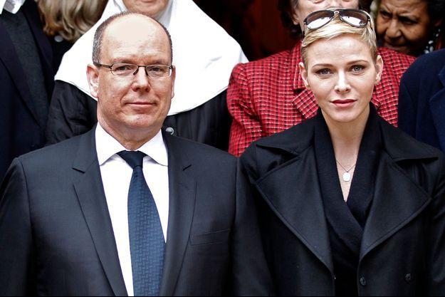 La princesse Charlène et le prince Albert II de Monaco à Monaco, le 17 novembre 2015