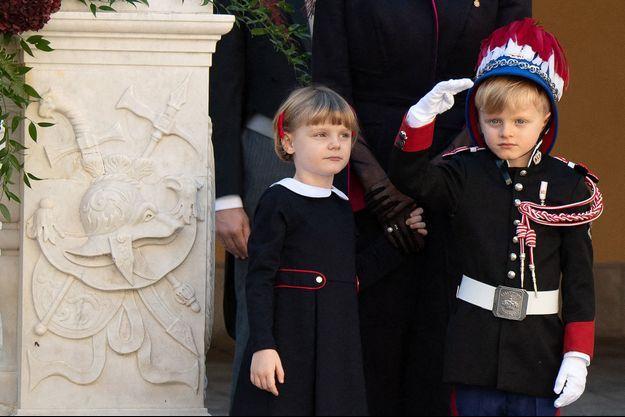 La princesse Gabriella et le prince Jacques de Monaco, le 19 novembre 2020, jour de la Fête nationale monégasque