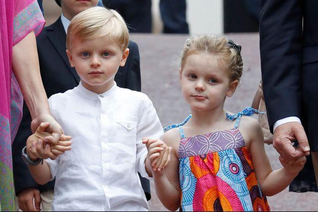 Le prince Jacques et la princesse Gabriella de Monaco à Monaco, le 6 septembre 2019