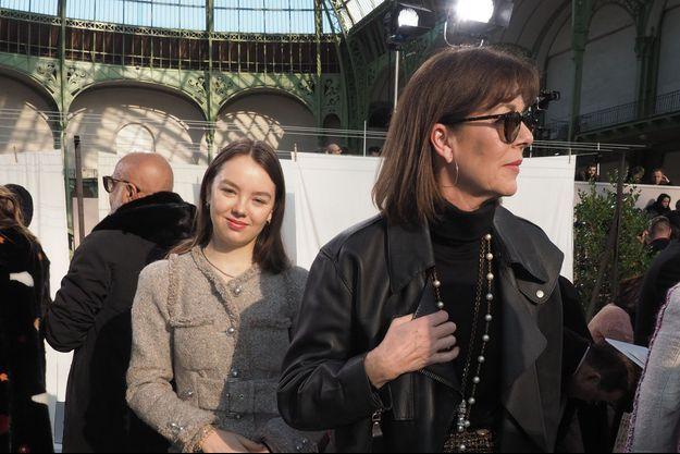 Les princesses Caroline et Alexandra de Hanovre à Paris, le 21 janvier 2020