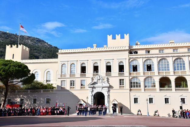 Le Palais princier de Monaco le 19 novembre 2019, jour de la Fête nationale