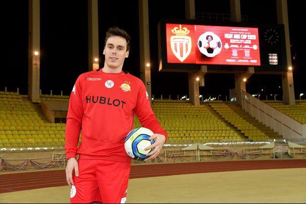 Louis Ducruet lors d'un match caritatif soutenu par l'AS Monaco en janvier 2020