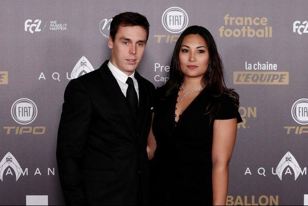 Louis Ducruet et sa compagne Marie à Paris, le 3 décembre 2018
