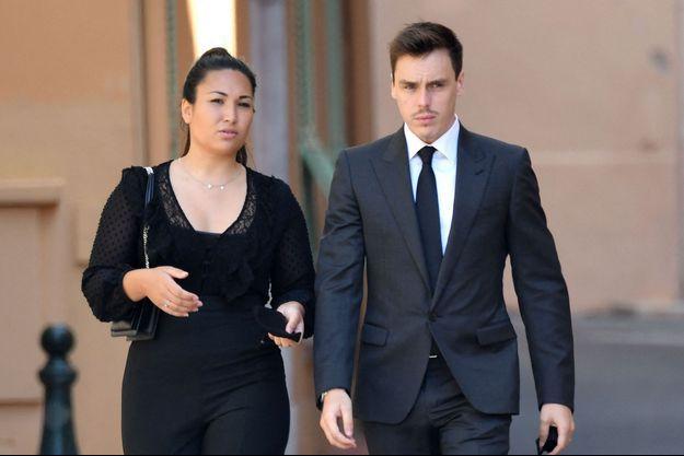 Louis Ducruet avec son épouse Marie en juin 2020