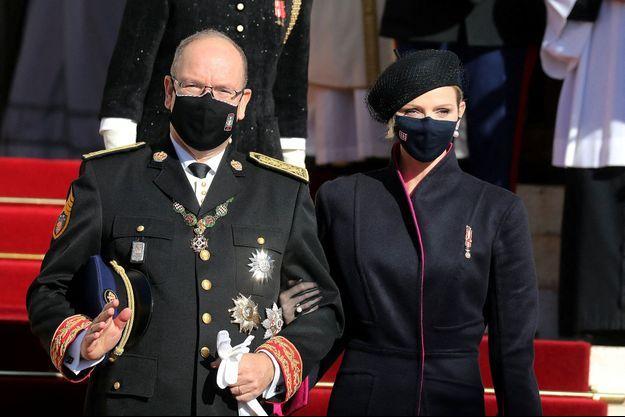 Le prince Albert II de Monaco et la princesse Charlène, le 19 novembre 2020.