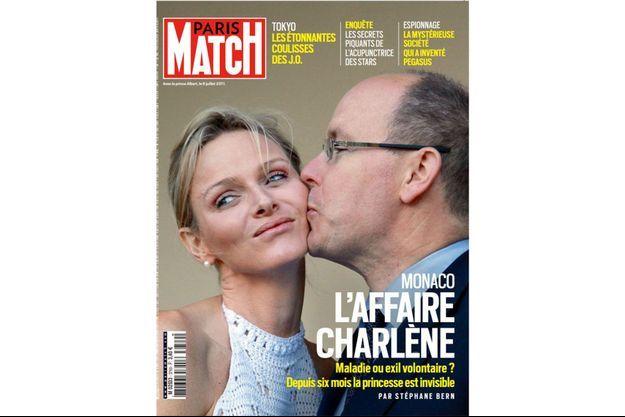 La couverture de Paris Match, numéro 3769, en kiosques dès jeudi 29 juillet.